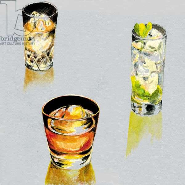 Liquor,2013,(Acrylic paint on paper)