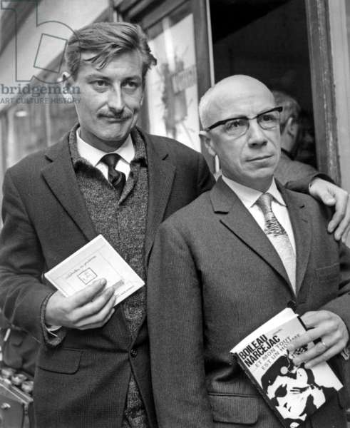 Womac And Pierre Boileau After Black Humor Grand Prix Presentation October 29, 1965 (b/w photo)