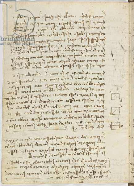 Birds Flight Code, c. 1505-06, paper manuscript, cc. 18, sheet 14 verso