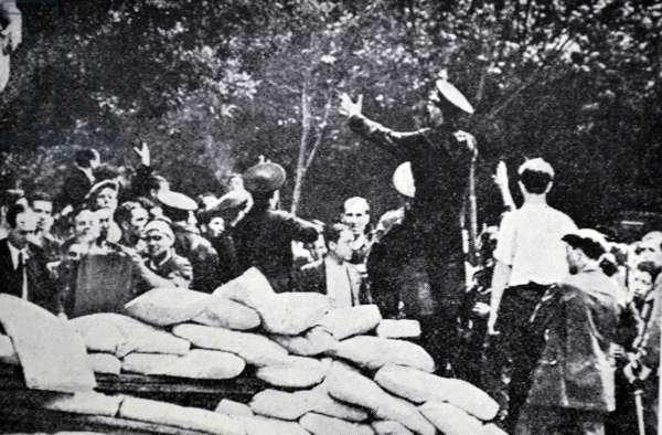 Scene in Barcelona during the Spanish civil war 1937