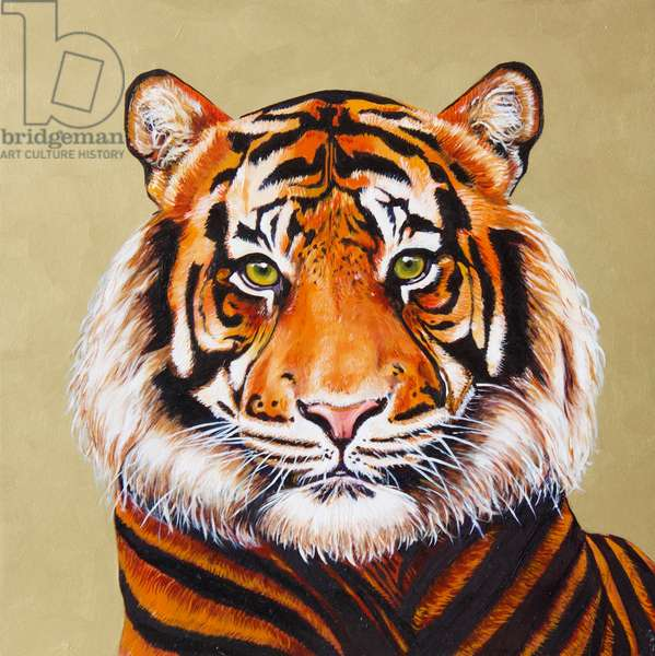 Tiger #1, 2019, (oil on board)