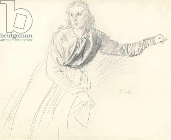 Portrait of Mrs Slade, née Miss Jessy McNeill (graphite on paper)