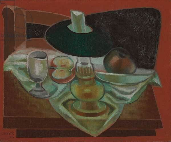 Under the Lamp; Sous la lampe, 1925 (oil on canvas)