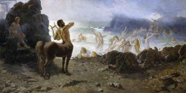 Centaur Chiron attempting freedom, by Francesco Saverio Altamura (1826-1897)