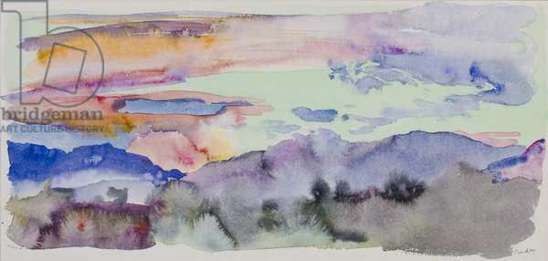 Sunset, March 4th (w/c on paper)