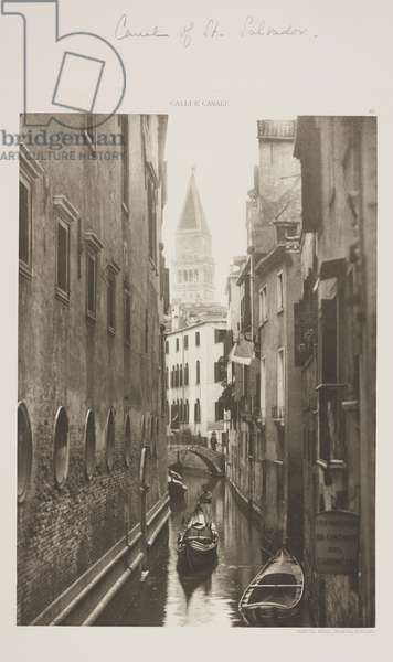 Canal of St. Salvadore, 1891 (photogravure)