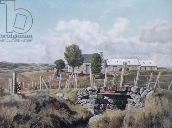 Croft on Dava Moor, 1938 (oil on canvas)