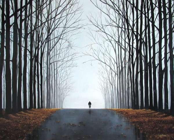 Morning Bike (acrylic on canvas)