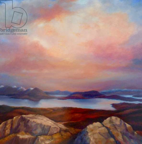 Highland Loch, 2019, (oil on canvas)
