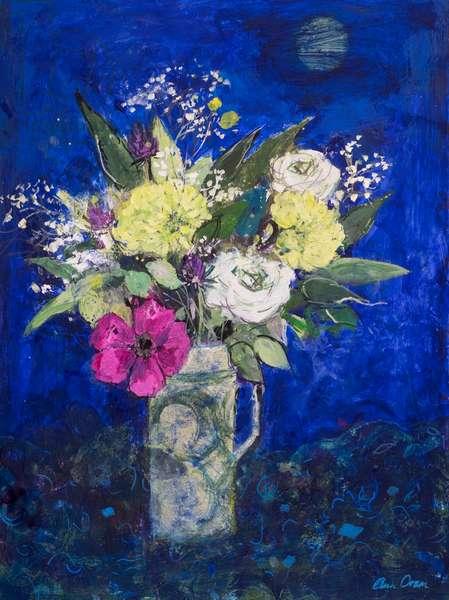 Midnight Flowers, Deep Blue Ground