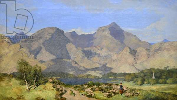 Catbells and Causey Pike, Derwentwater, 1854 (oil on canvas)