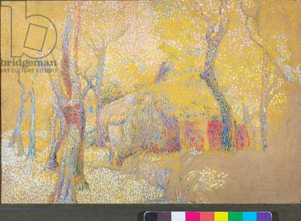 Barn in the trees, c.1900-06 (oil on cardboard)