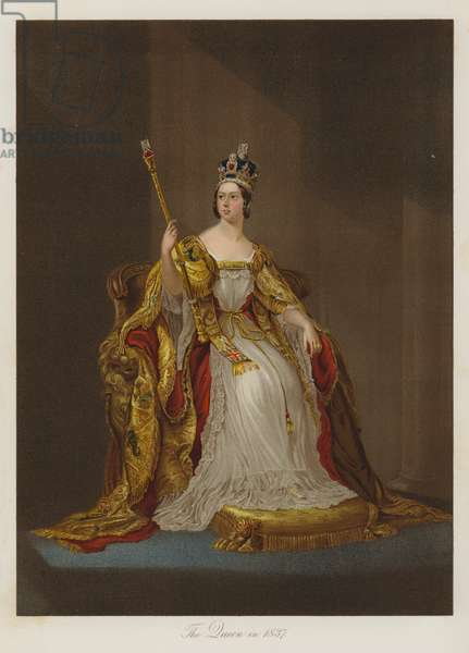 The Queen in 1837 (chromolitho)