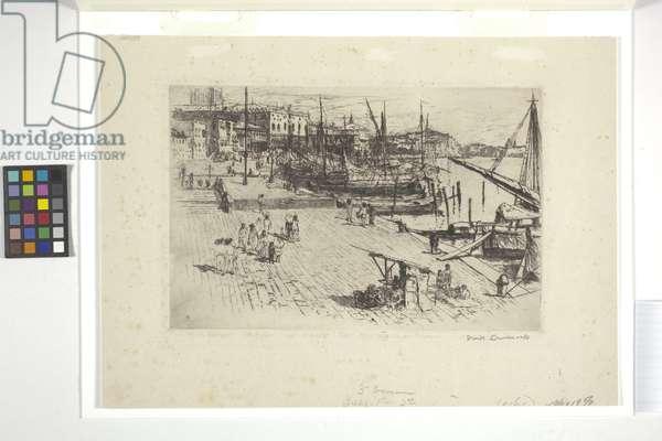 Riva Degli Schiavoni (Plate 1) (ink)