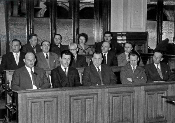 Case William Rigaux At The Court of Assisi De Namur Ici Le Jury February 28 1960 (b/w photo)