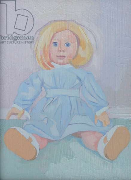'Inevitable - American Doll', 2014, (oil on board)