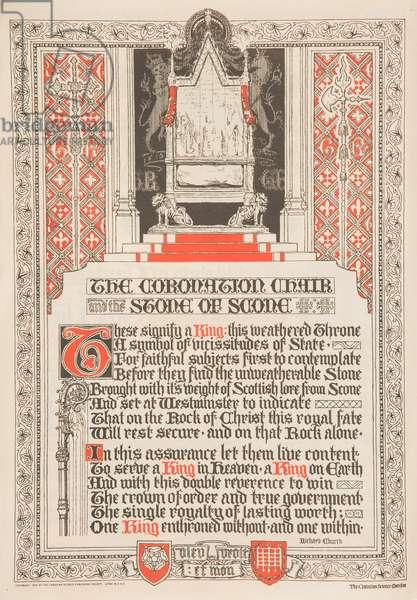 Coronation souvenir, 1937 (colour litho)