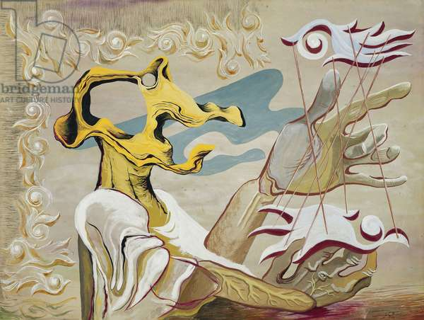 The Yellow Harpist, 1946 (pencil, gouache and black ink)