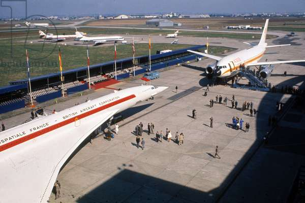 Plane Concorde in Airport Near Paris May 26, 1971 (photo)