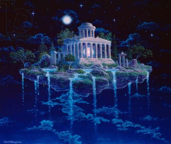 Moon temple, 1984 (acrylic on canvas)