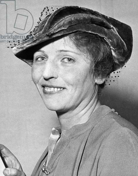 Pearl Buck Wins Nobel Prize (b/w photo)