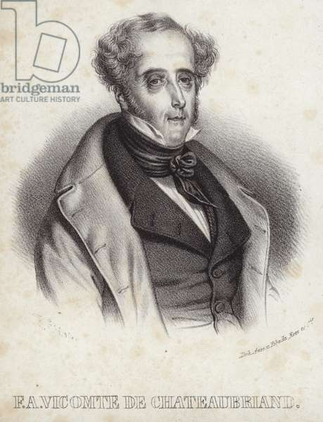 Portrait of vicomte de Chateaubriand (litho)