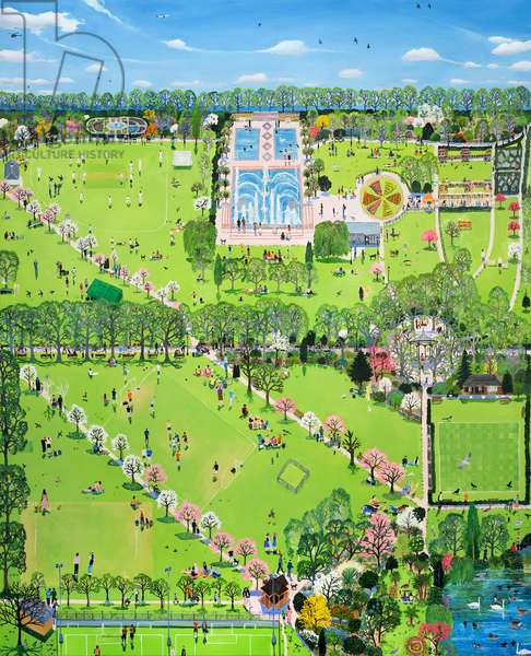 Mapping series: battersea park spring