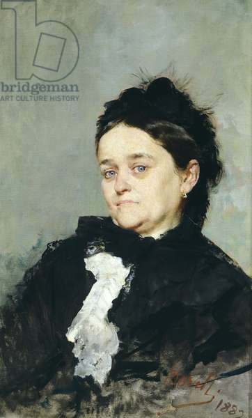 Portrait of Virginia Villari, by Domenico Morelli