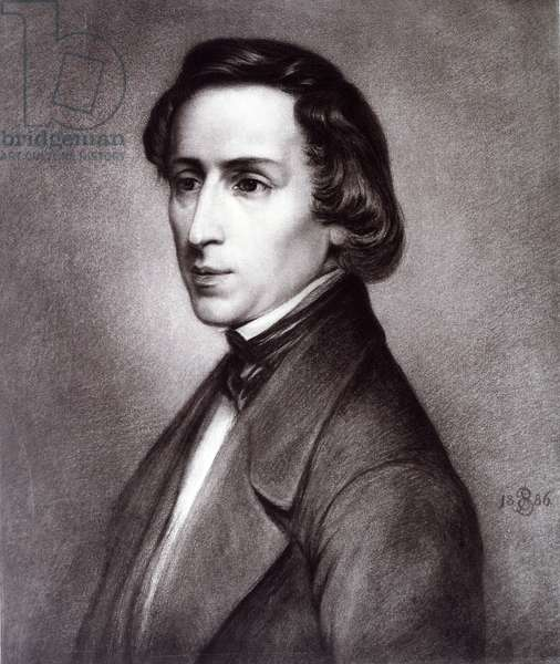 Frederic Chopin portrait, 1886.