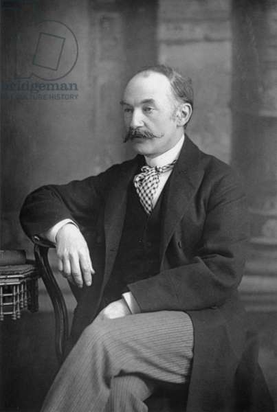 Thomas Hardy (1840-1928) British novelist and poet. Photograph from The Cabinet Portrait Gallery, London, 1890-94. Woodburytype