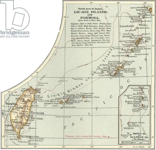Map of the Liu-Kiu Islands and Formosa