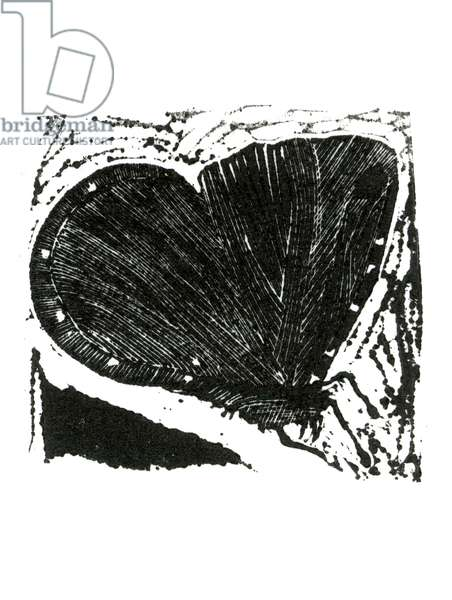 Dark Moth, 2013 (wood engraving on paper)
