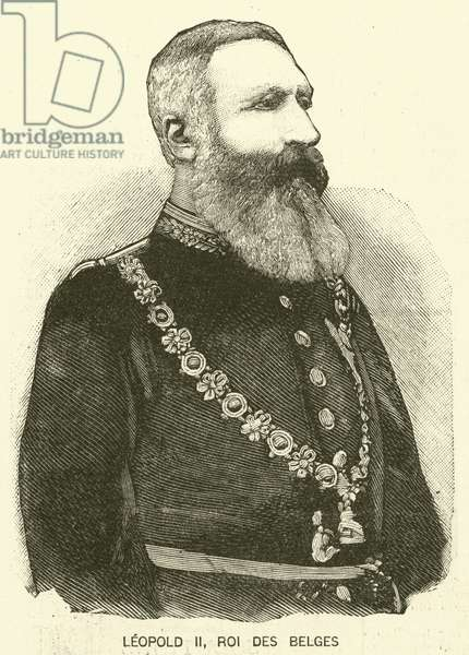 Leopold II, King of the Belgians (engraving)