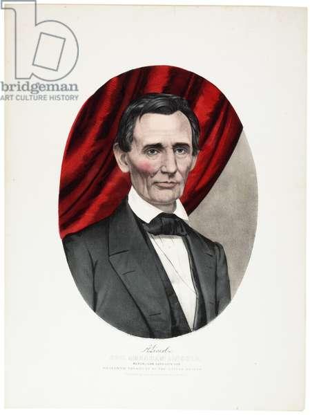 Abraham Lincoln, 1860 (colour litho)