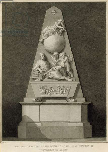 Monument to the memory of Sir Isaac Newton (engraving)