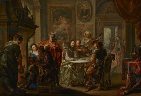 The Pleasures of the Seasons: Winter, c.1730 (oil on copper)