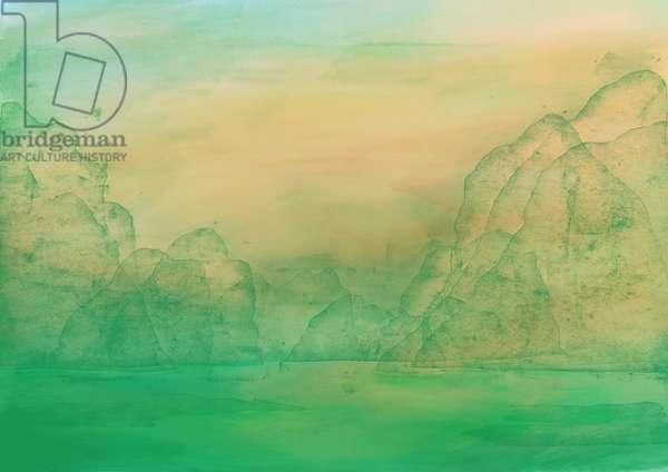 Emerald Water, 2018, original print