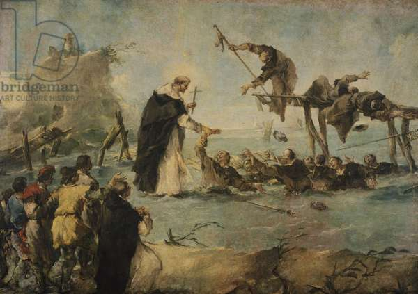 Miracle of Dominican saint, by Francesco Guardi (1712-1793), oil on canvas, 122x172 cm, 1763