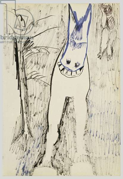 Woman and Horse, 1940 (ink on paper)