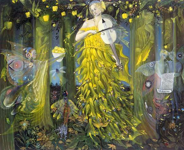 Queen of Quinces - after the music of Max Reger, 2007 (oil on Belgian linen)