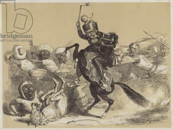 Richard Coeur-De-Lion and Saladin (aquatint)
