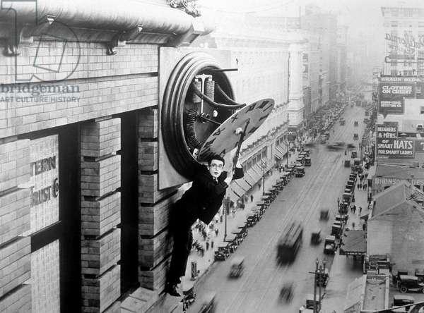 Harold Lloyd in 'Safety Last!', 1923 (film-still)