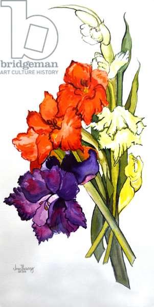 Gladioli, 2011(watercolour)