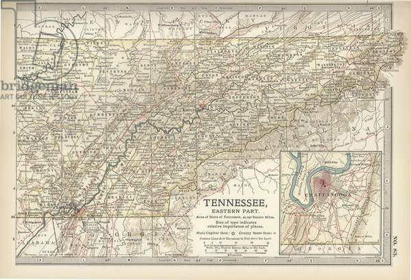Map of eastern Tennessee