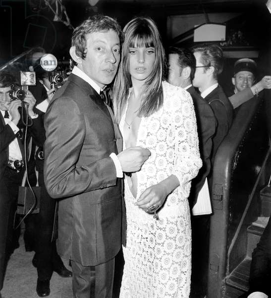 Serge Gainsbourg and Jane Birkin at the Artists Gala, 5 April 1969 (photo)