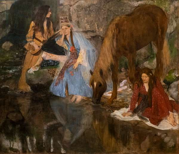 """Bearing of Miss E [ugenie] F [iocre]; about the ballet of """"the Source"""". 1867-1868. Oil on canvas."""