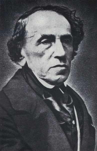 The composer Giacomo Meyerbeer (b/w photo)