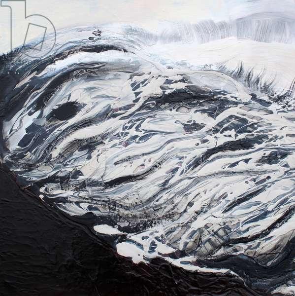 Ice Flow, 2015 (oil & acrylic on canvas on panel)