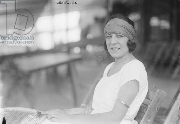 Suzanne Lenglen, French Tennis Player, Portrait Seated, Bain News Service, 1921 (b/w photo)