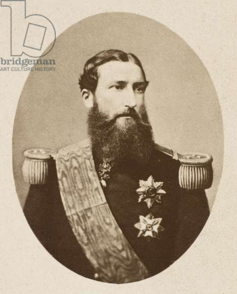 LEOPOLD II (1835-1909) King of the Belgians, 1865-1909. Original carte-de-visite photograph, c.1865.